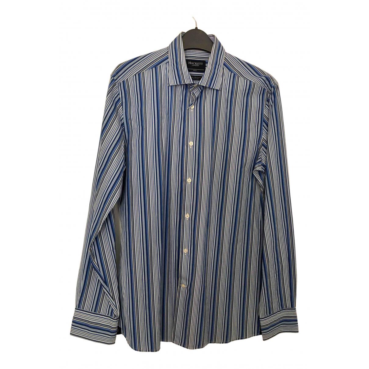 Hackett London - Chemises   pour homme en coton - bleu