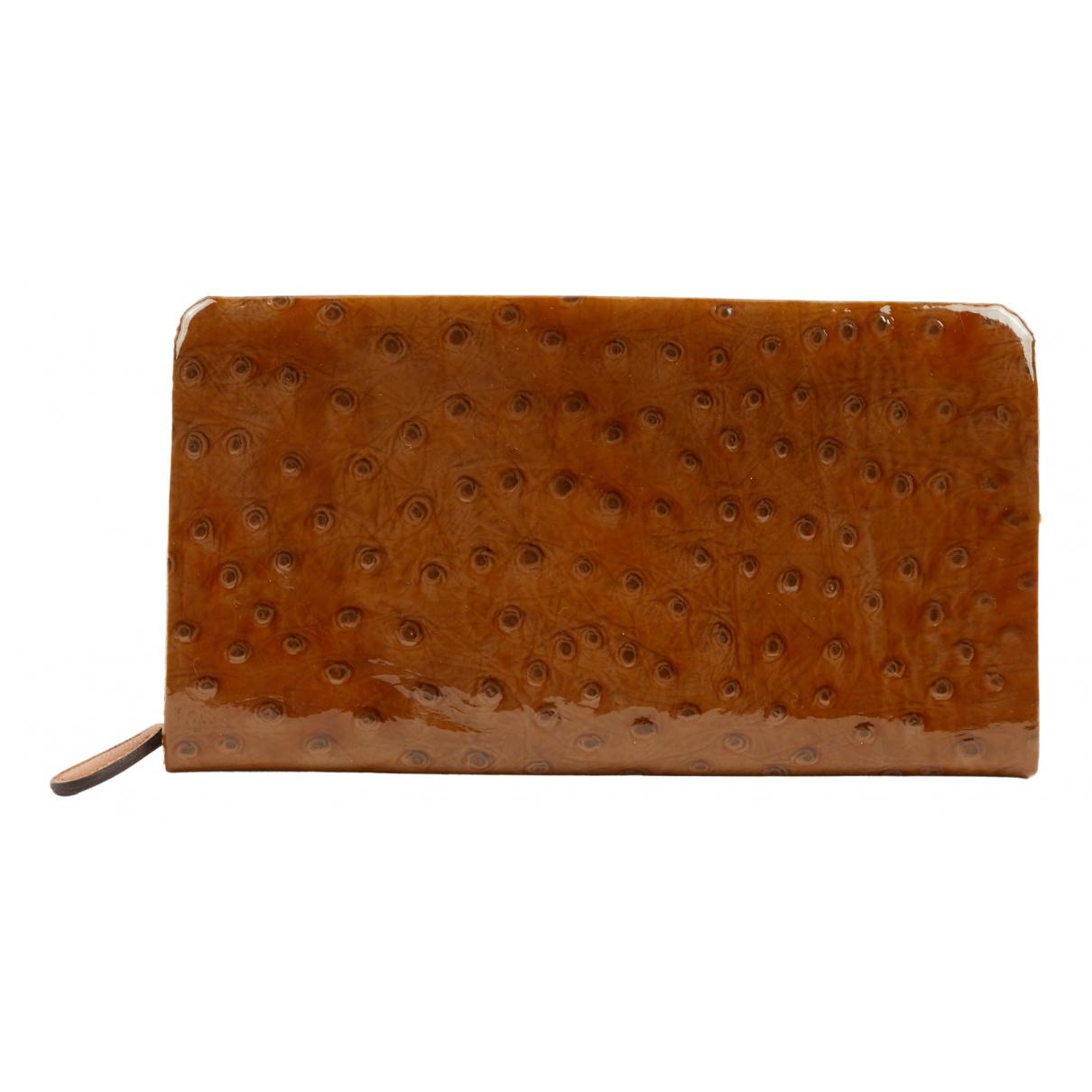 Bottega Veneta N Brown Ostrich wallet for Women N