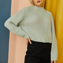 Rib Knit Crop Sweater