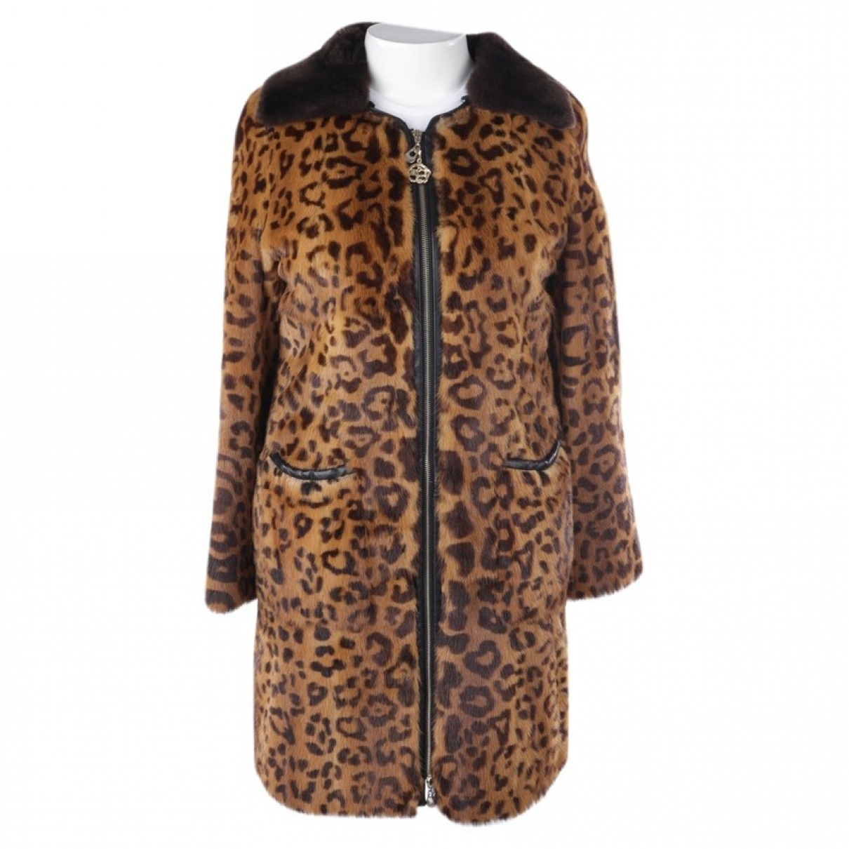 Class Cavalli \N Black Fur jacket for Women 42 FR