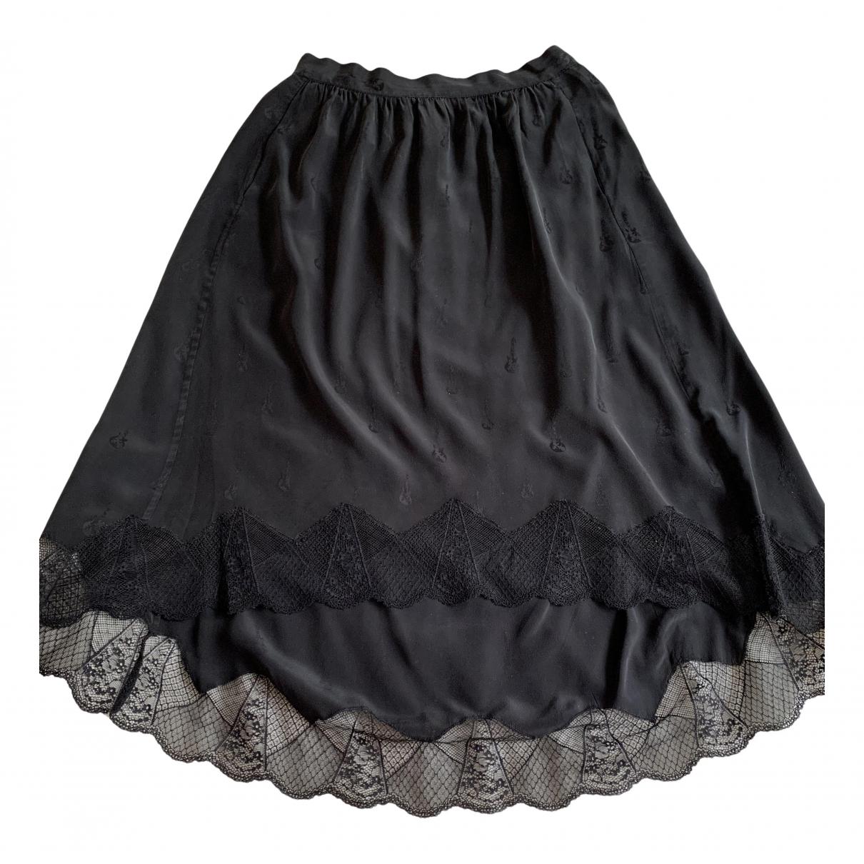 Zadig & Voltaire - Jupe   pour femme en soie - noir