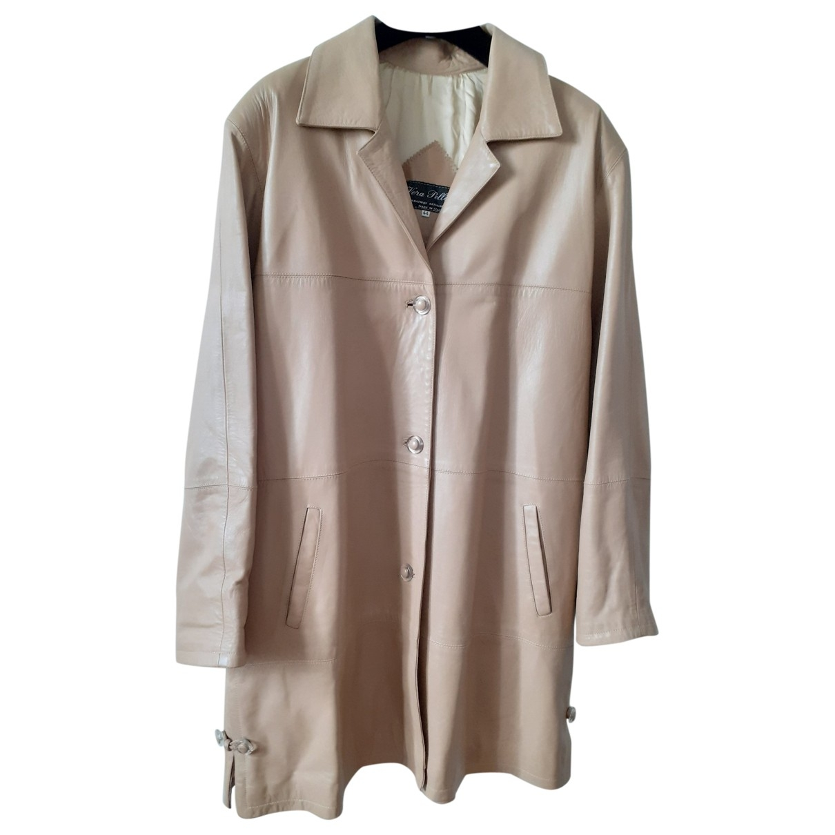 Non Signe / Unsigned \N Trench in  Beige Leder