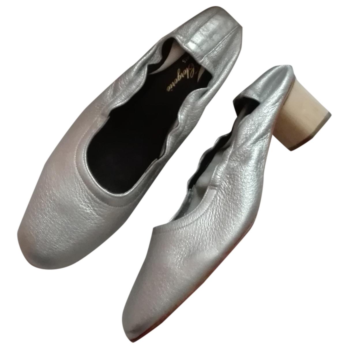 Robert Clergerie \N Silver Leather Heels for Women 39 EU