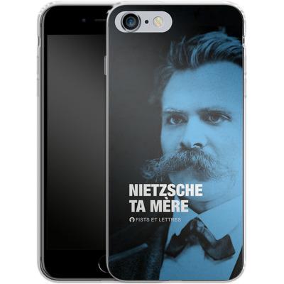 Apple iPhone 6s Plus Silikon Handyhuelle - Nietzsche Ta Mere von Fists Et Lettres