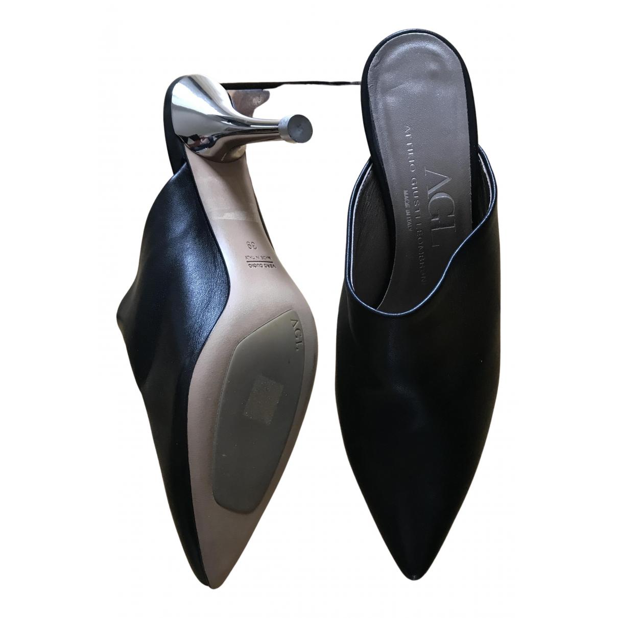 Agl \N Pumps in  Schwarz Leder