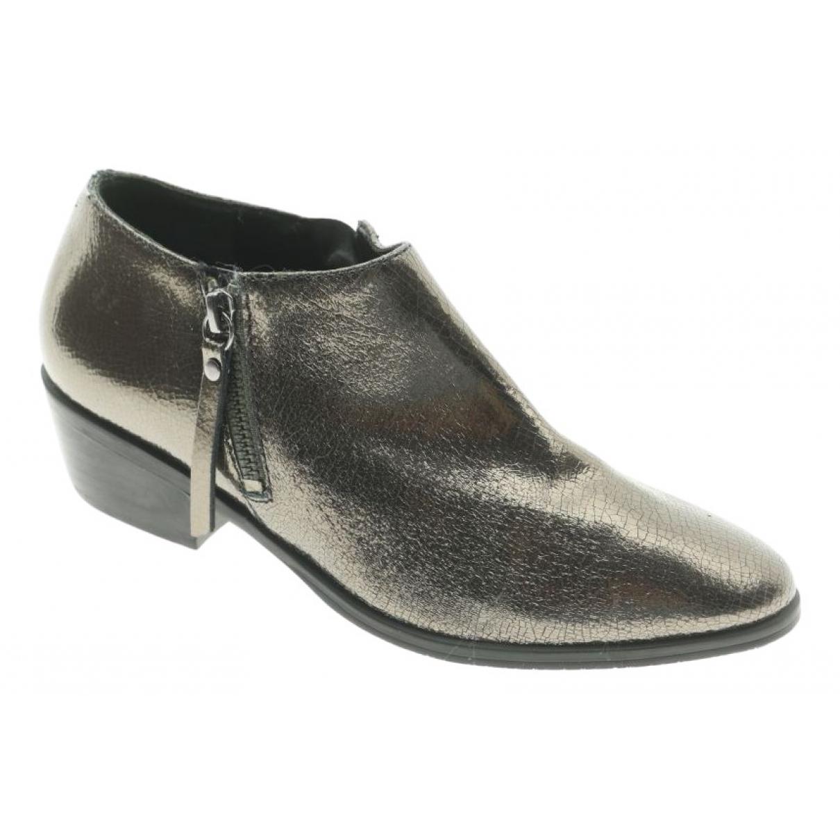 Schutz - Boots   pour femme en cuir - argente