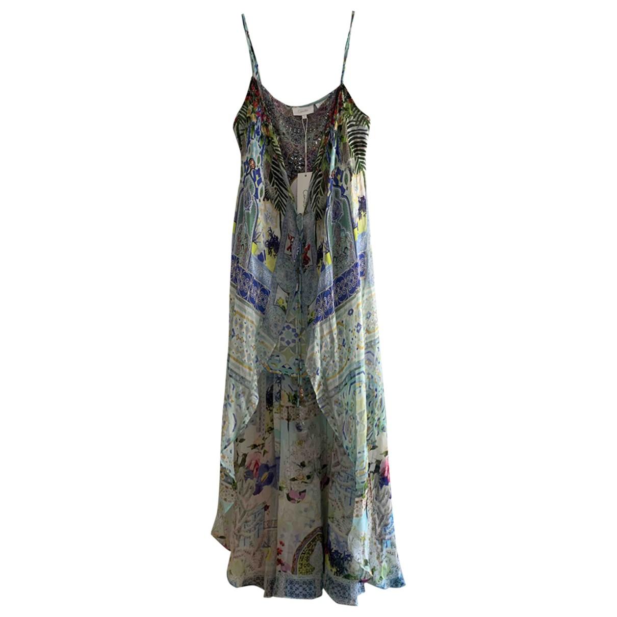Camilla \N Kleid in  Blau Seide