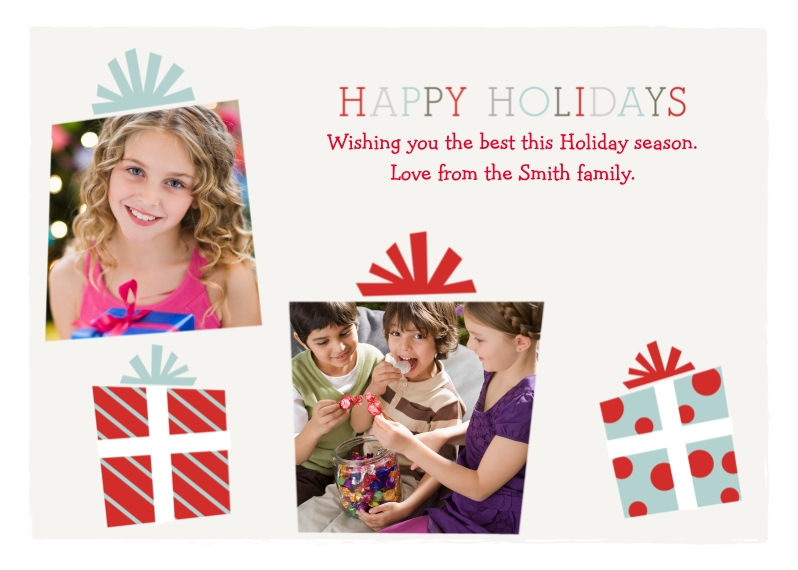 Holiday Photo Cards Flat Matte Photo Paper Cards with Envelopes, 5x7, Card & Stationery -Playful Presents