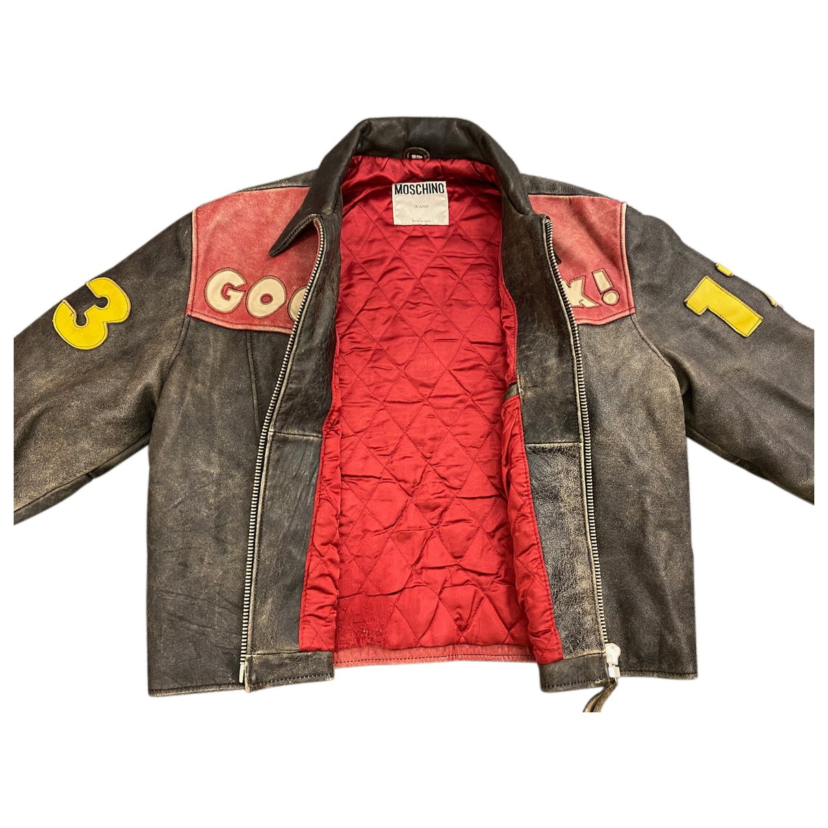 Moschino N Grey Leather jacket  for Men 50 IT