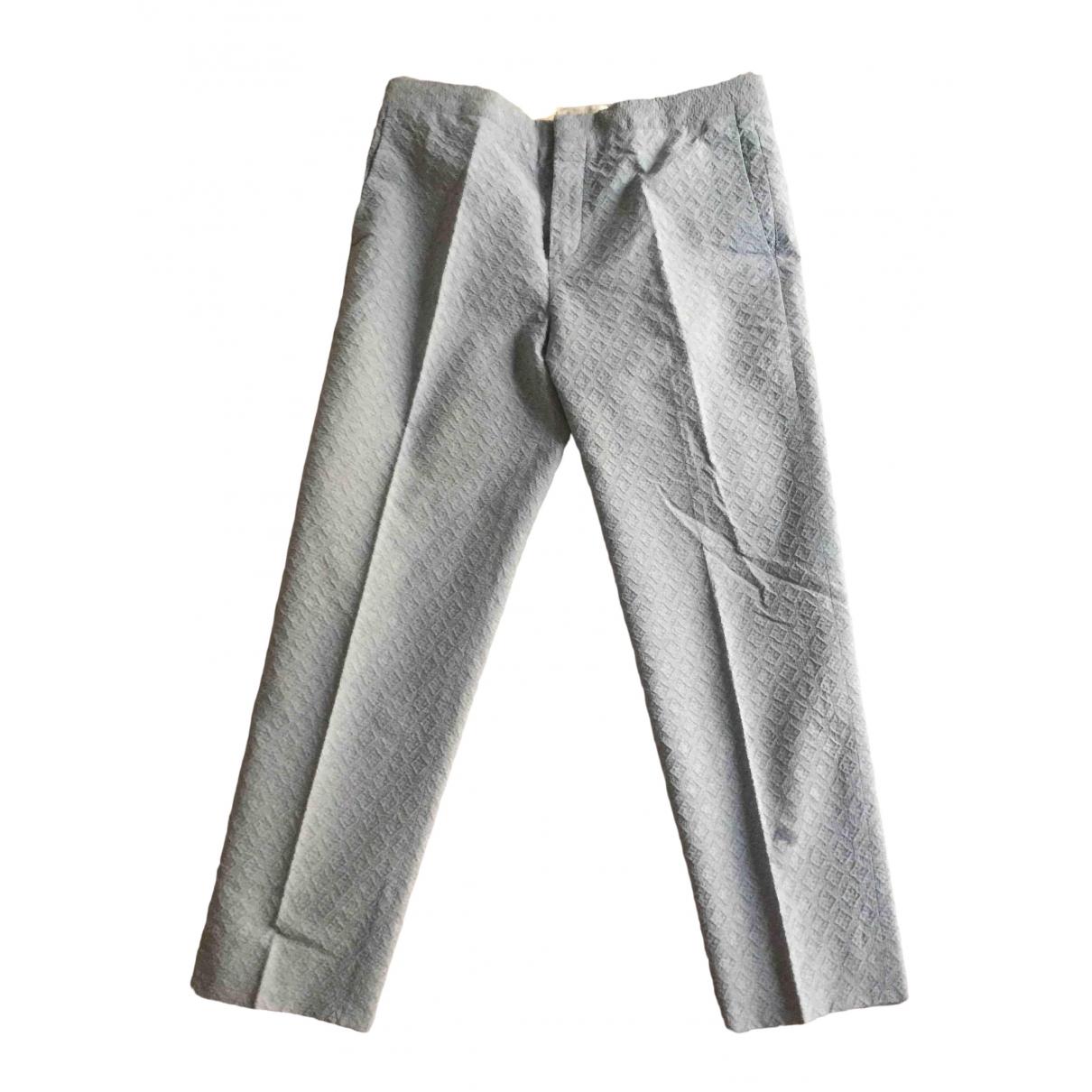 Chloé \N Blue Cotton Trousers for Women 40 FR