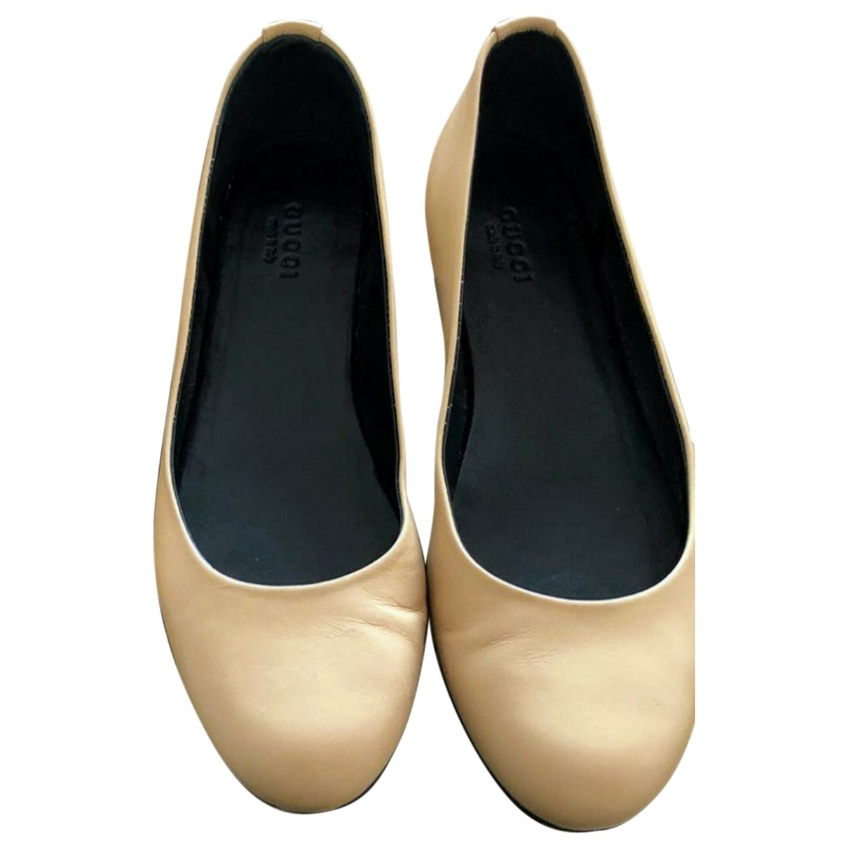 Gucci \N Beige Fur Ballet flats for Women 37 EU