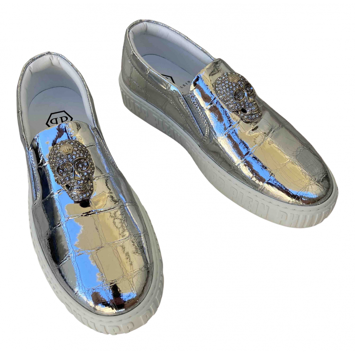 Philipp Plein \N Silver Patent leather Trainers for Women 35.5 EU