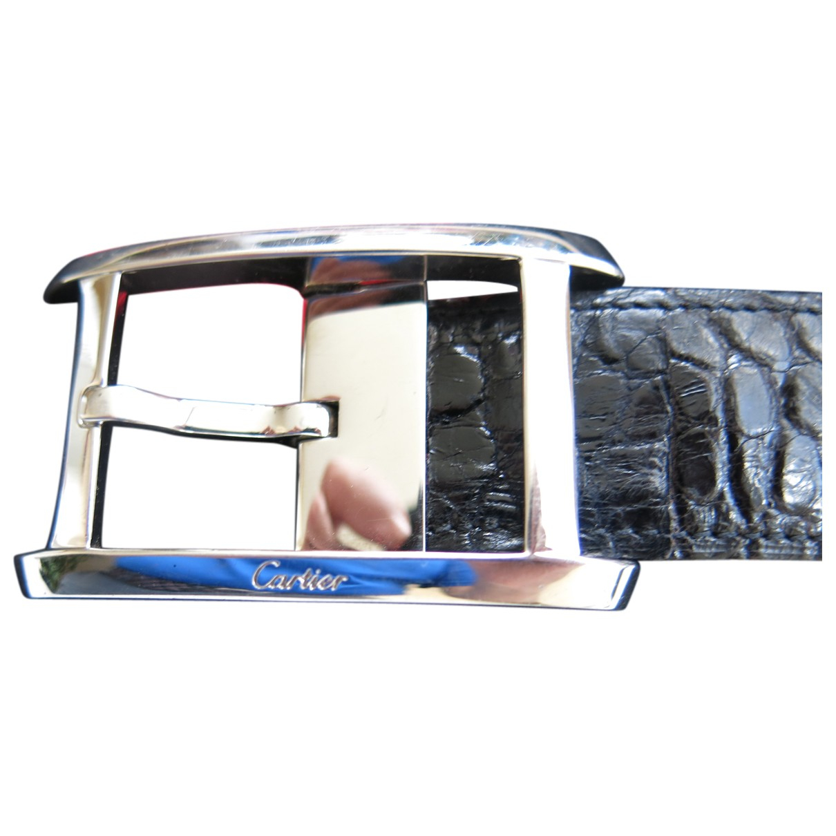 Cartier N Black Leather belt for Men XL international