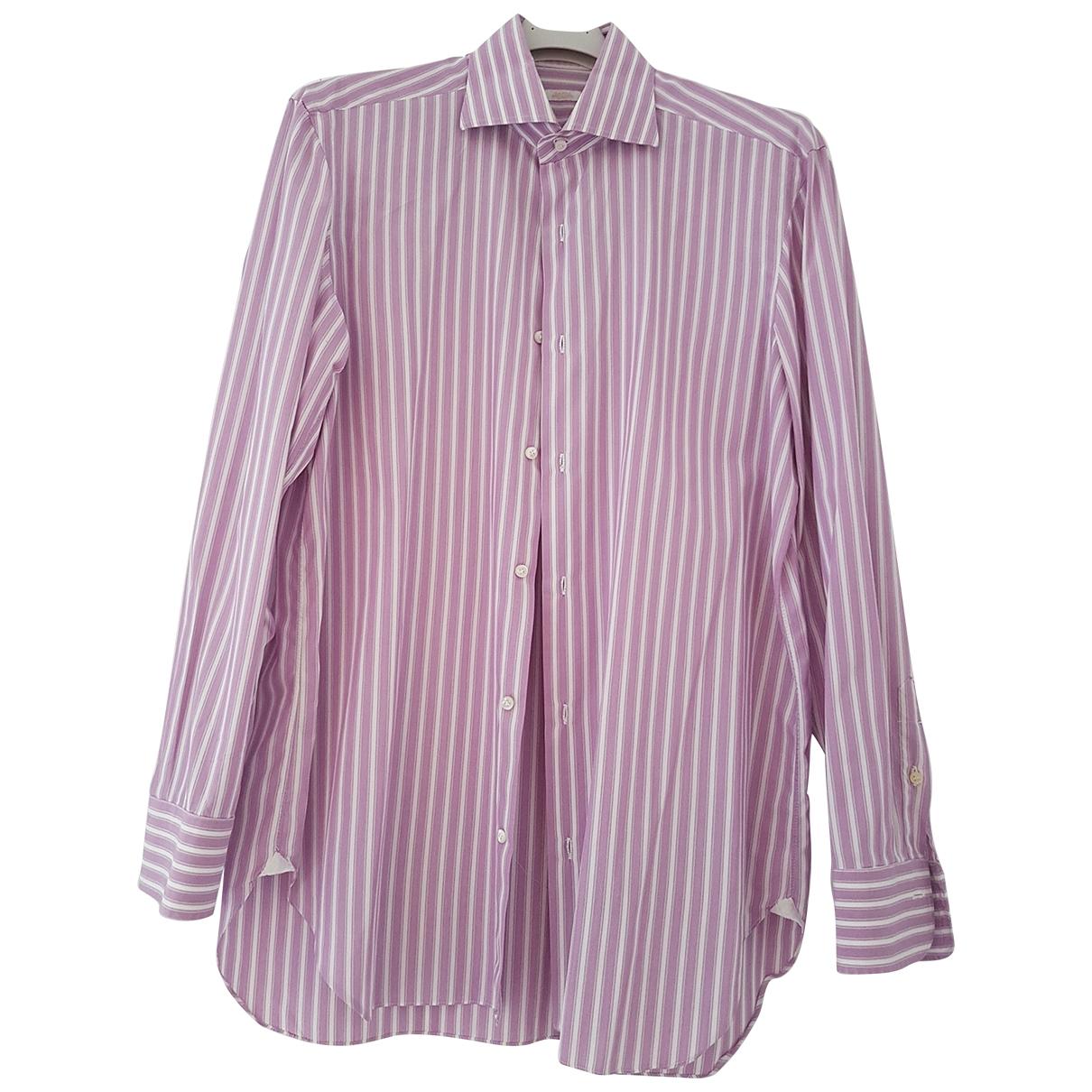 Barba - Chemises   pour homme en coton - rose