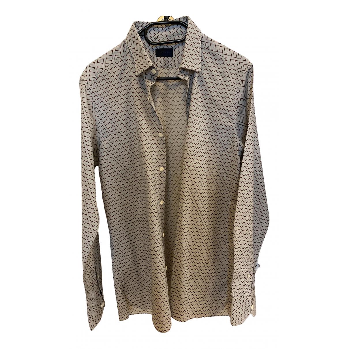 Lanvin - Chemises   pour homme en coton - multicolore