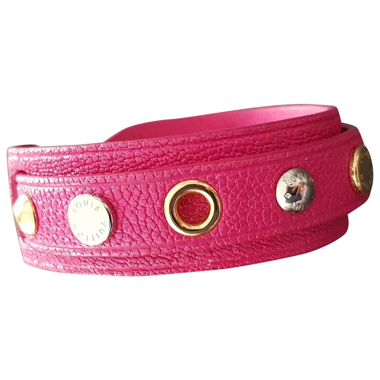 Louis Vuitton - Bracelet Clous pour femme en cuir - rose