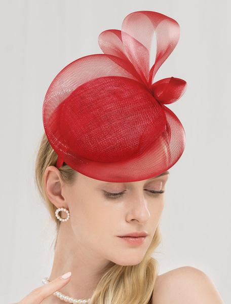 Milanoo Retro Hat Hair Band Lilac Vintage Royal Headpieces Women Fascinator Hat
