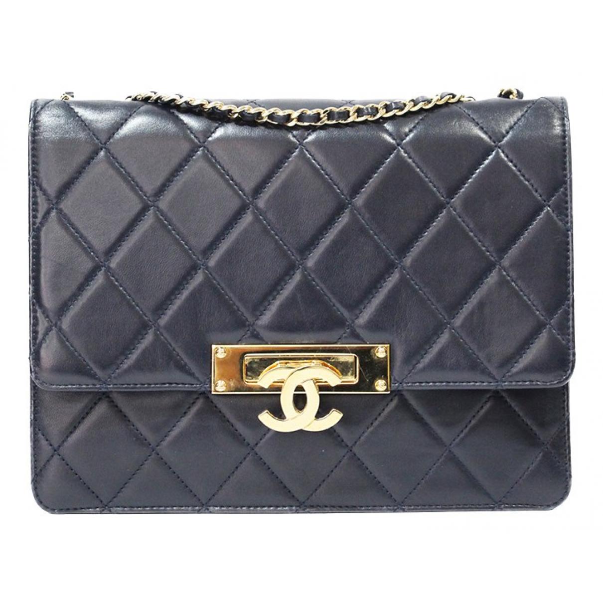 Chanel \N Handtasche in  Marine Leder