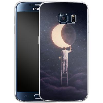 Samsung Galaxy S6 Silikon Handyhuelle - Carpe Noctem Wide von Enkel Dika