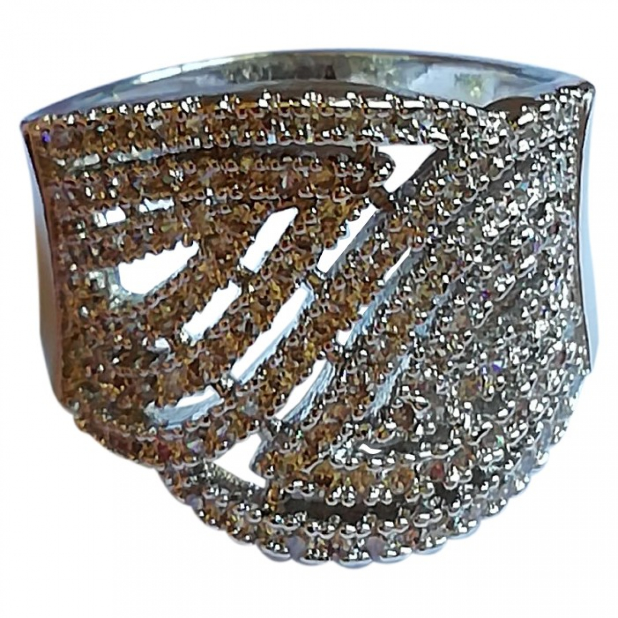 Non Signe / Unsigned Bagues Cocktails Ring in  Silber Metall