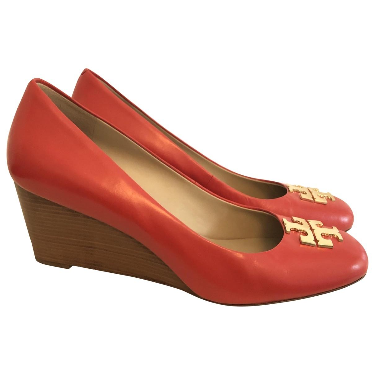 Tory Burch - Escarpins   pour femme en cuir - rouge