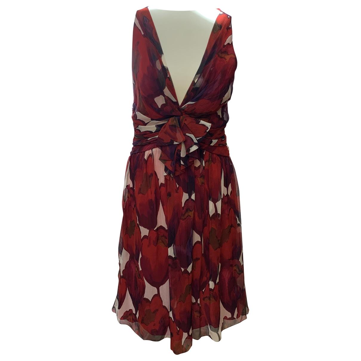 Moschino \N Kleid in  Rot Seide