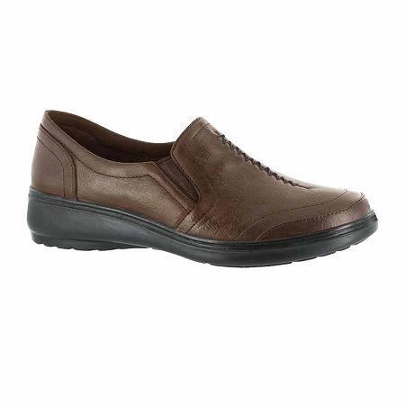 Easy Street Womens Ultimate Slip-On Shoe, 11 Medium, Brown
