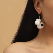 Ohrringe mit Karikatur Tier Anhaenger