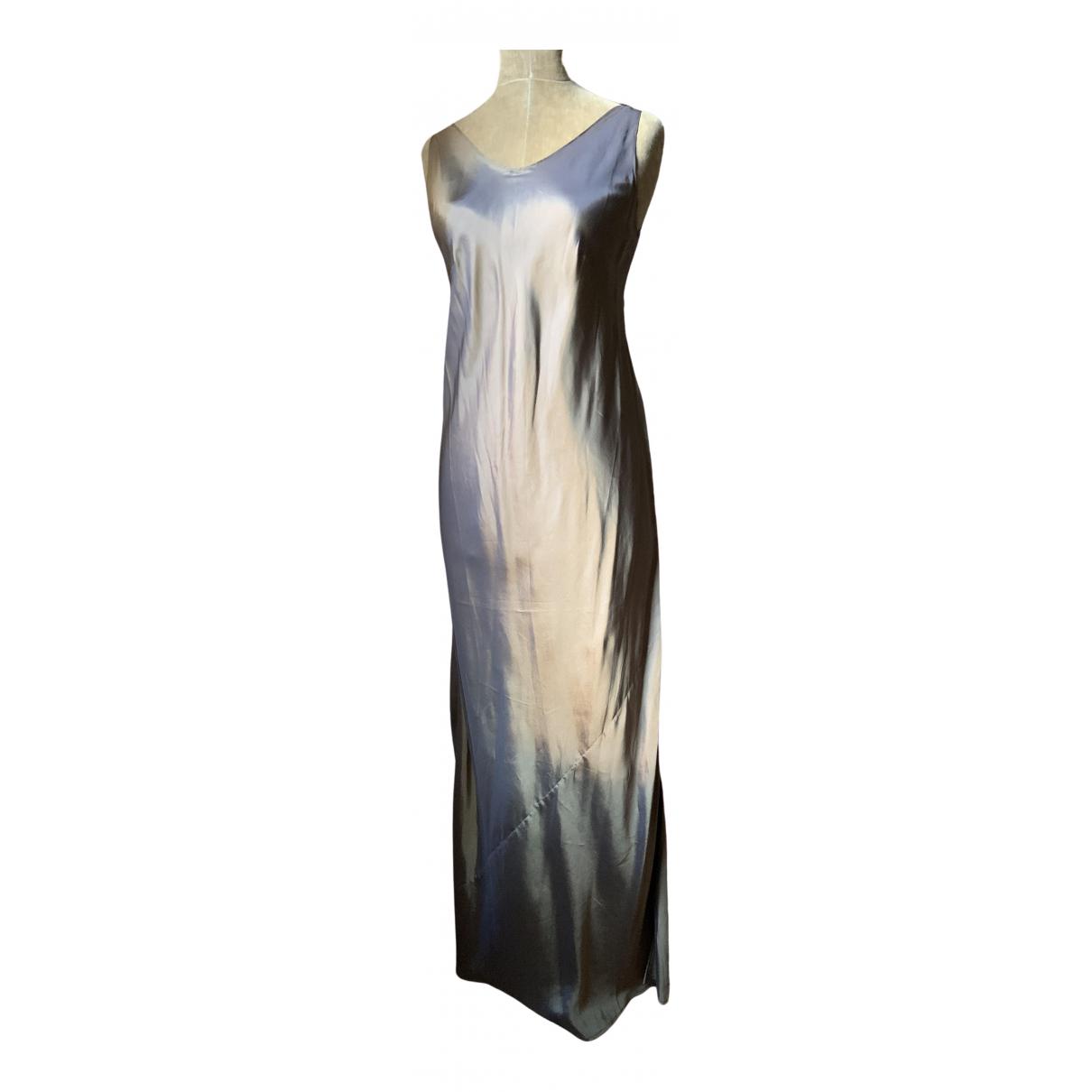 Kenzo \N Kleid in  Khaki Seide