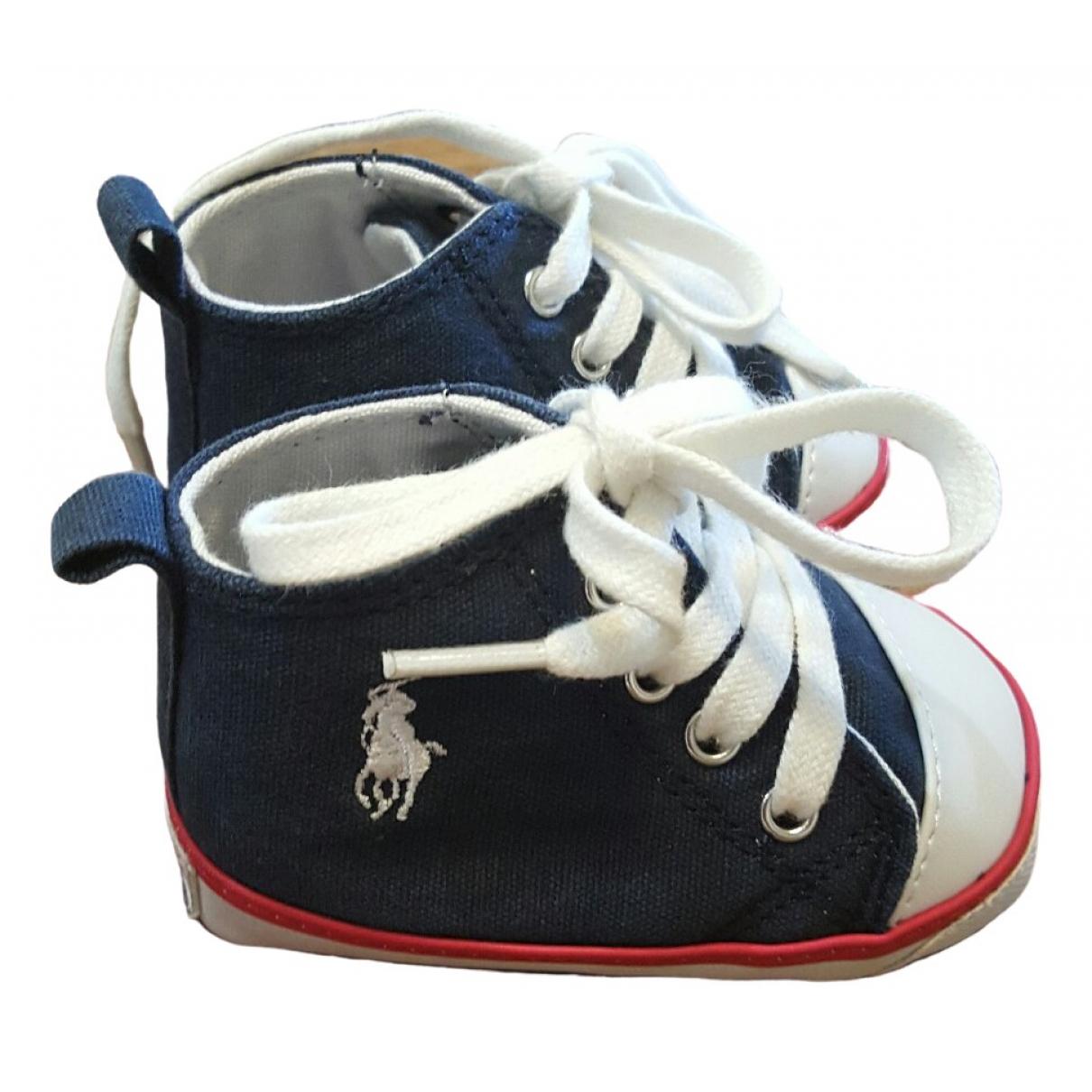 Ralph Lauren - Premiers pas   pour enfant en toile - bleu