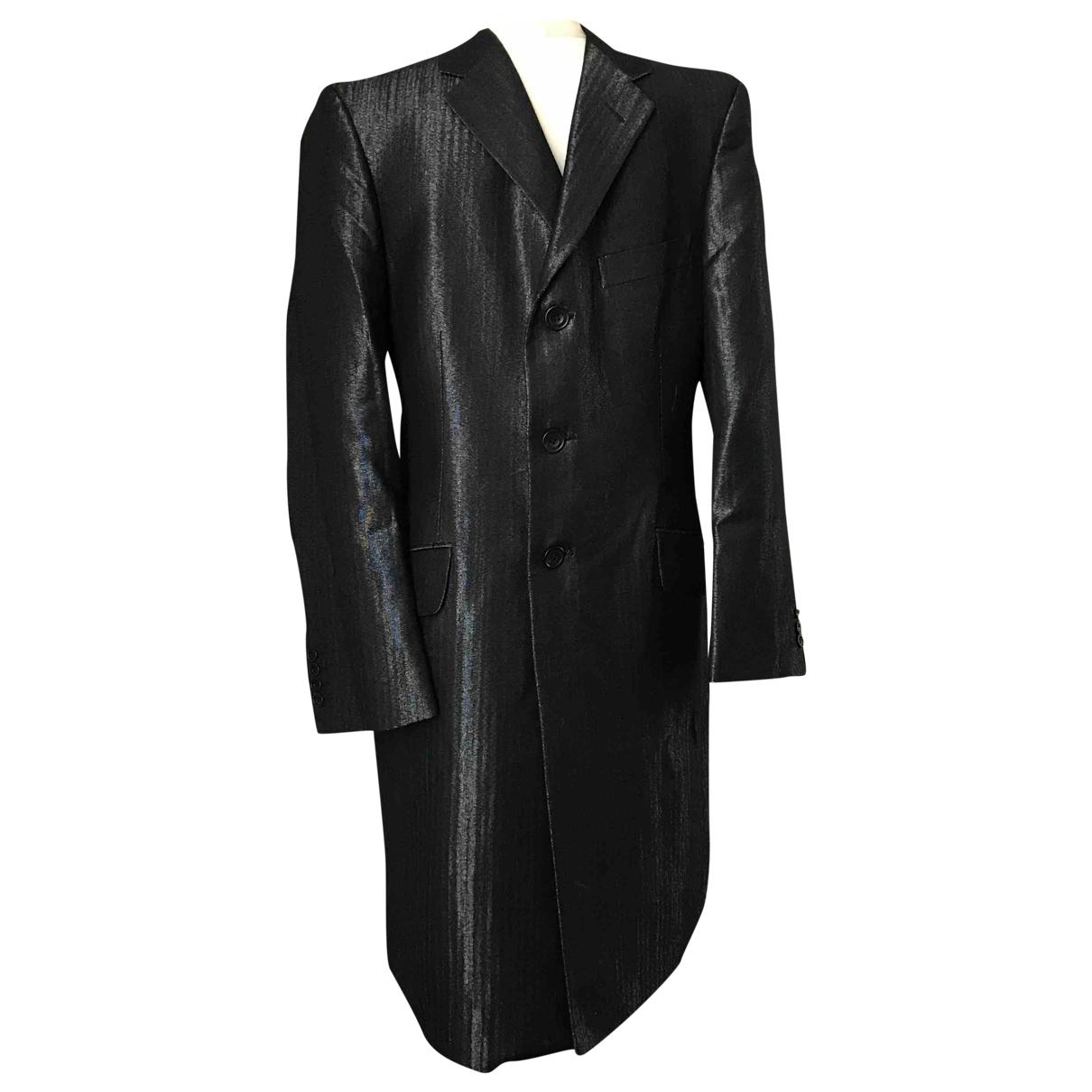 Versace - Manteau   pour homme en laine - anthracite