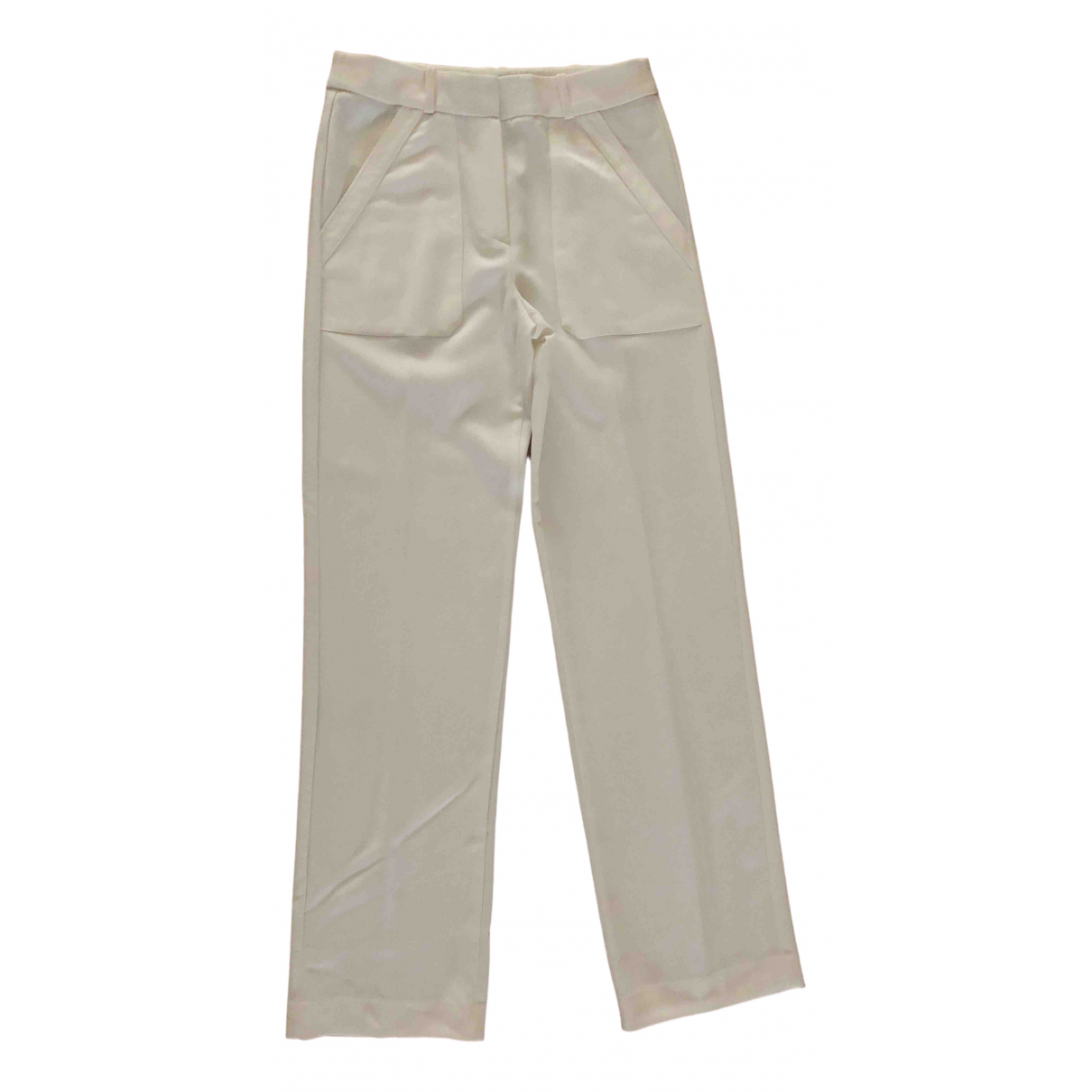 Mango \N White Trousers for Women 4 US