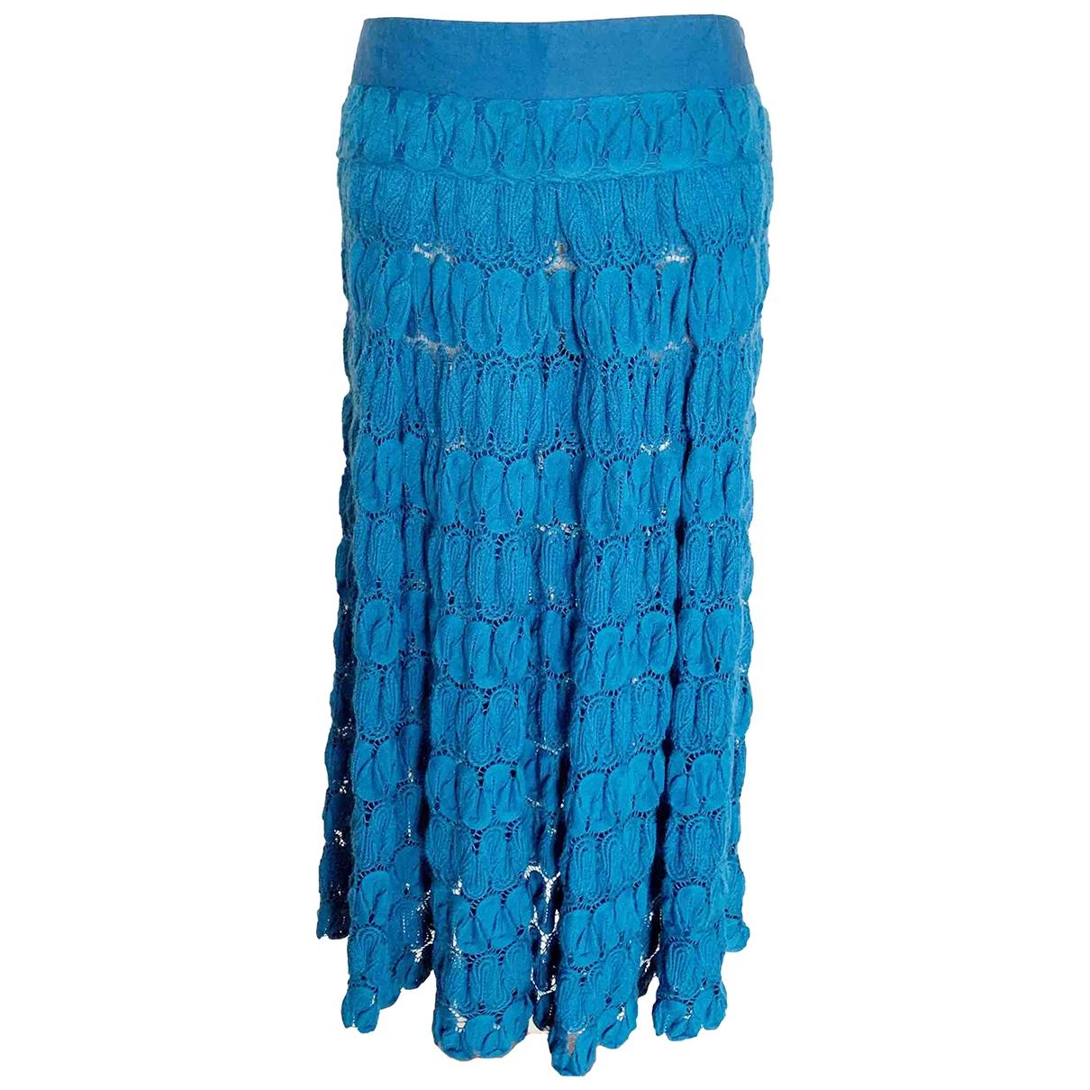Non Signé / Unsigned \N Blue skirt for Women 38 FR