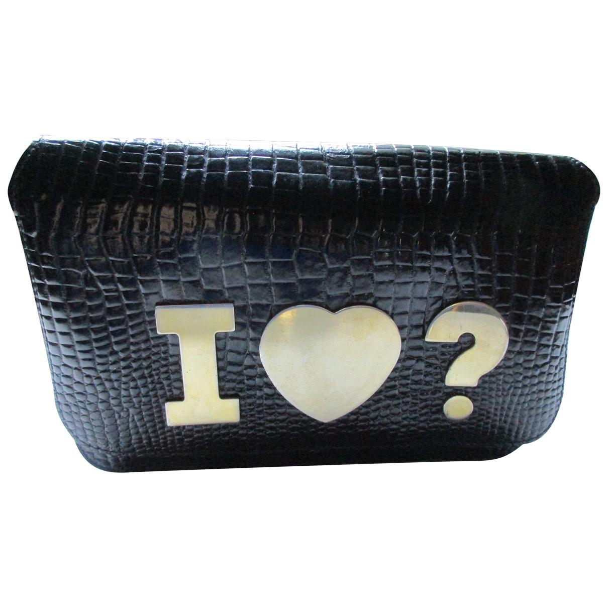 Moschino \N Handtasche in  Schwarz Lackleder