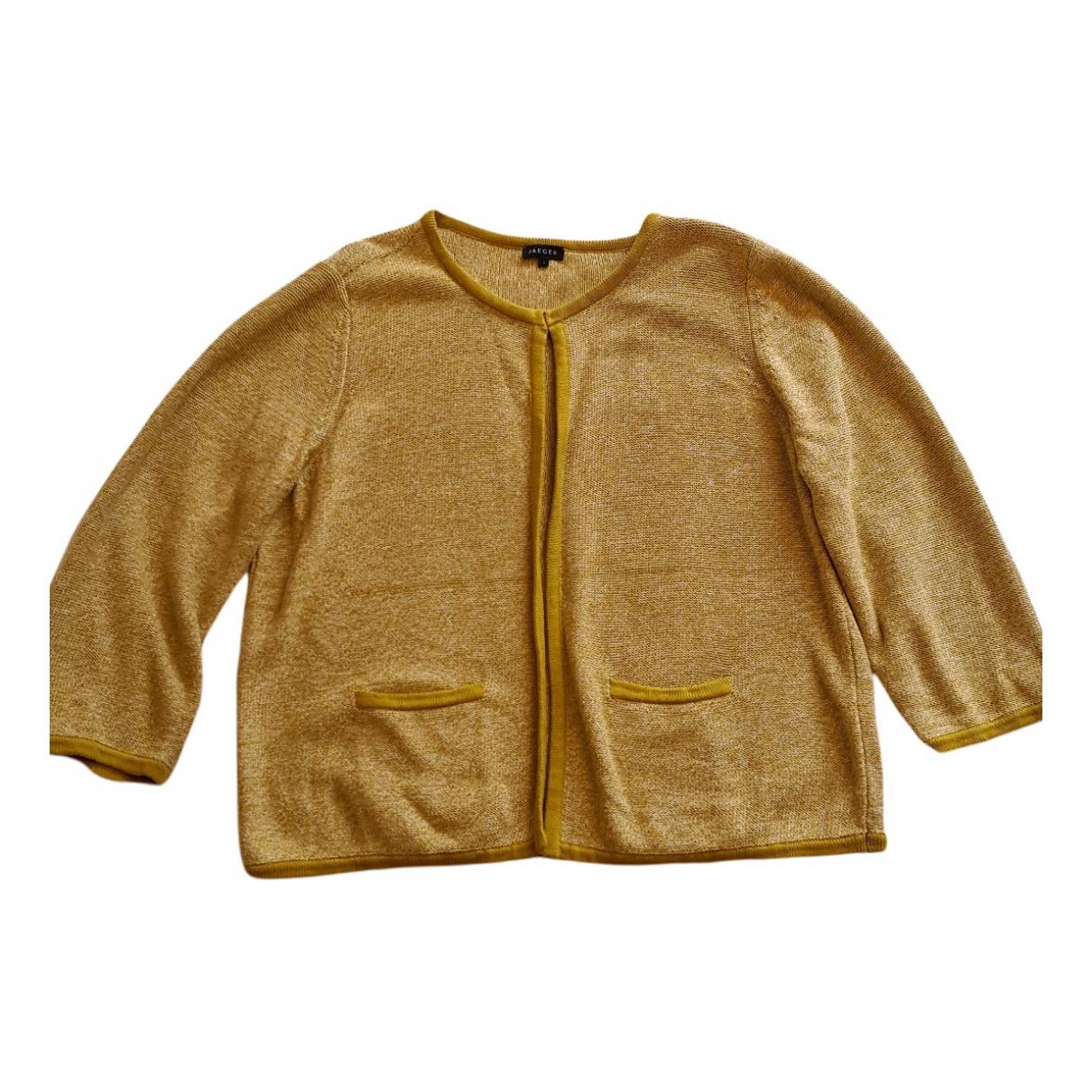 Jaeger - Pull   pour femme en coton - jaune