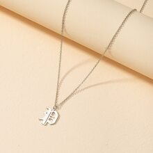 Halskette mit gotischem Buchstaben Dekor
