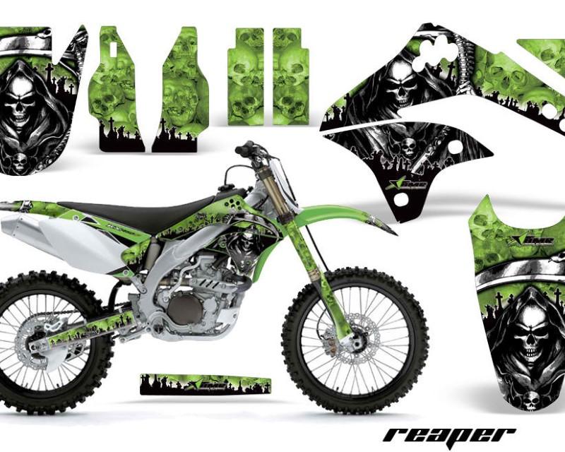 AMR Racing Dirt Bike Decal Graphic Kit Sticker Wrap For Kawasaki KXF450 2006-2008áREAPER GREEN