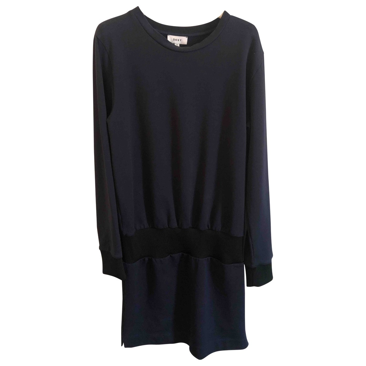 Dkny \N Kleid in  Blau Baumwolle
