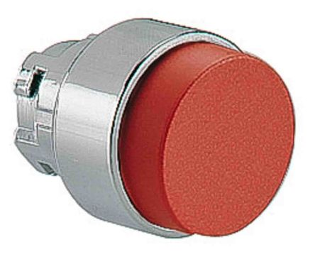 Lovato Extended Red Push Button Head - Spring Return, 8LM2T Series, 22mm Cutout, Round