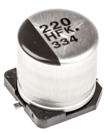 Panasonic 220μF Electrolytic Capacitor 50V dc, Surface Mount - EEEFK1H221GP (5)