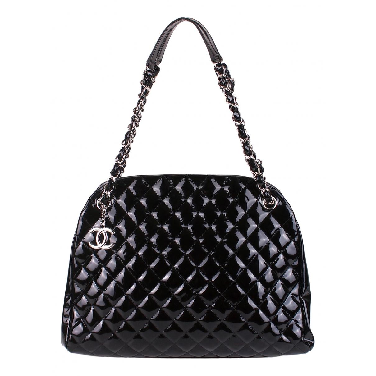 Chanel Mademoiselle Handtasche in  Schwarz Lackleder