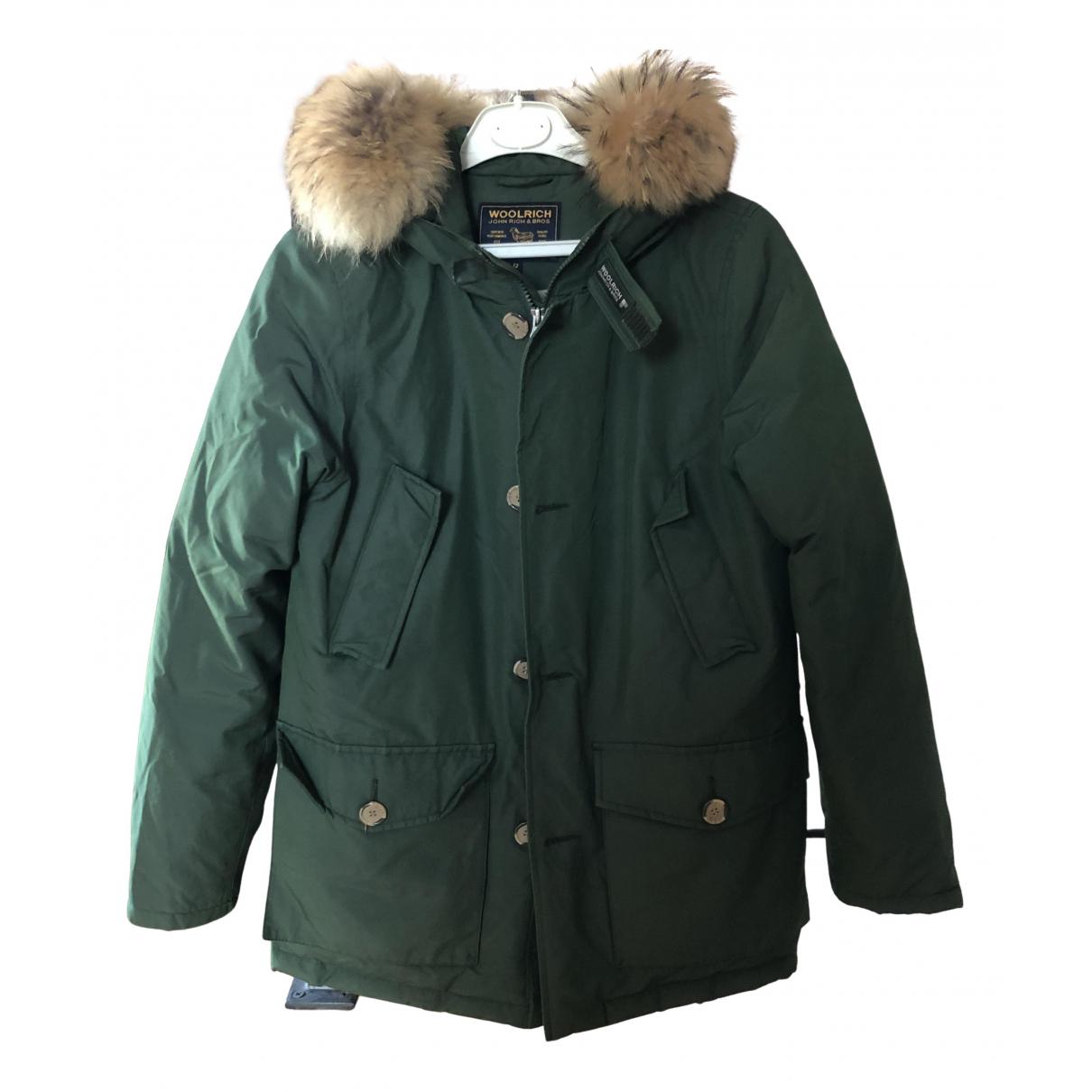 Woolrich N Green Fur jacket & coat for Kids 12 years - XS UK