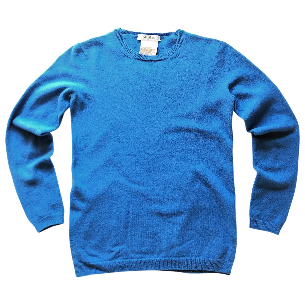 Max Mara - Pull   pour femme en laine - bleu