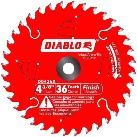 Diablo 4-3/8 in x 36 Tooth Finish Trim Saw Blade