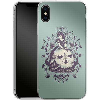 Apple iPhone X Silikon Handyhuelle - Mrs Death von Enkel Dika