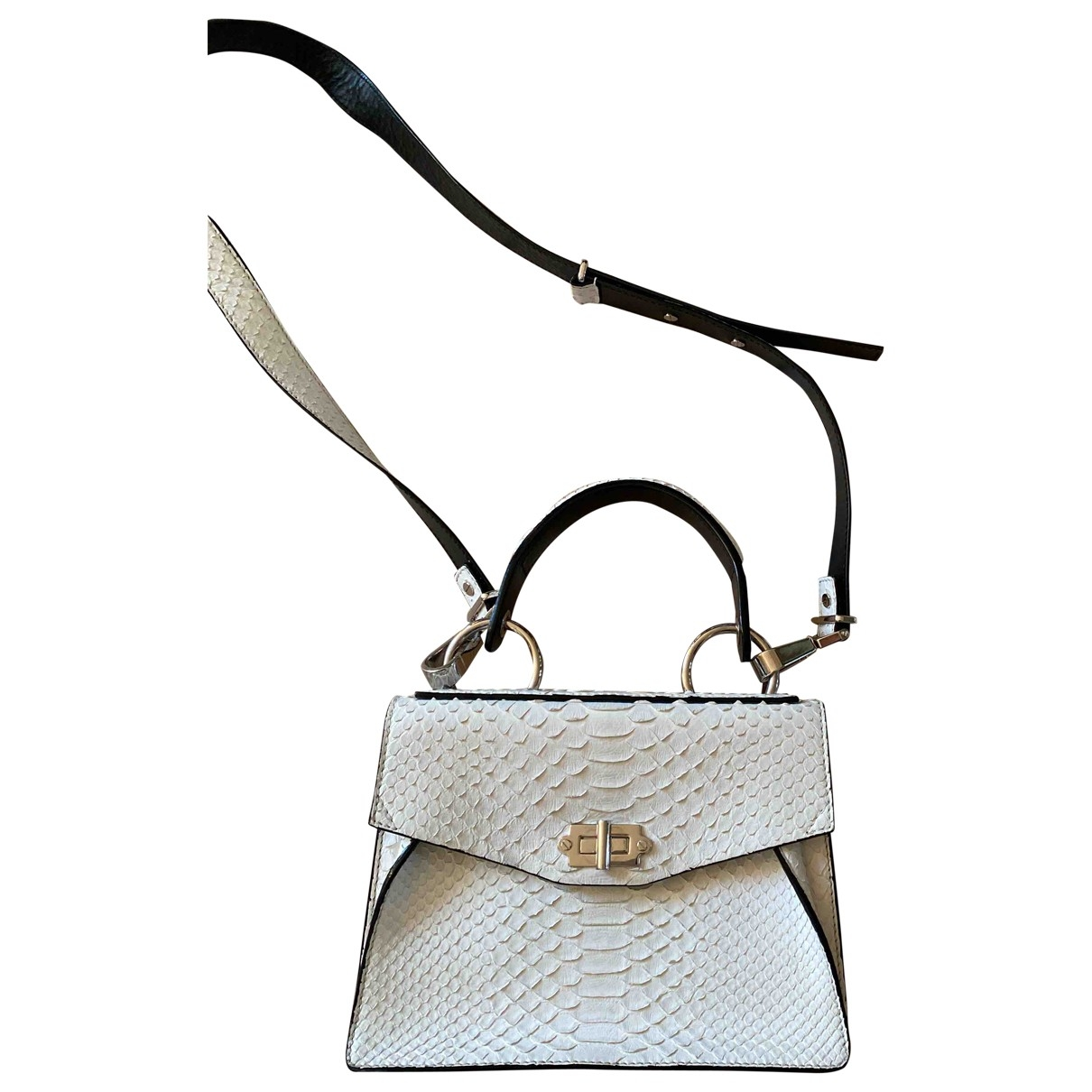 Proenza Schouler Hava Handtasche in  Weiss Python