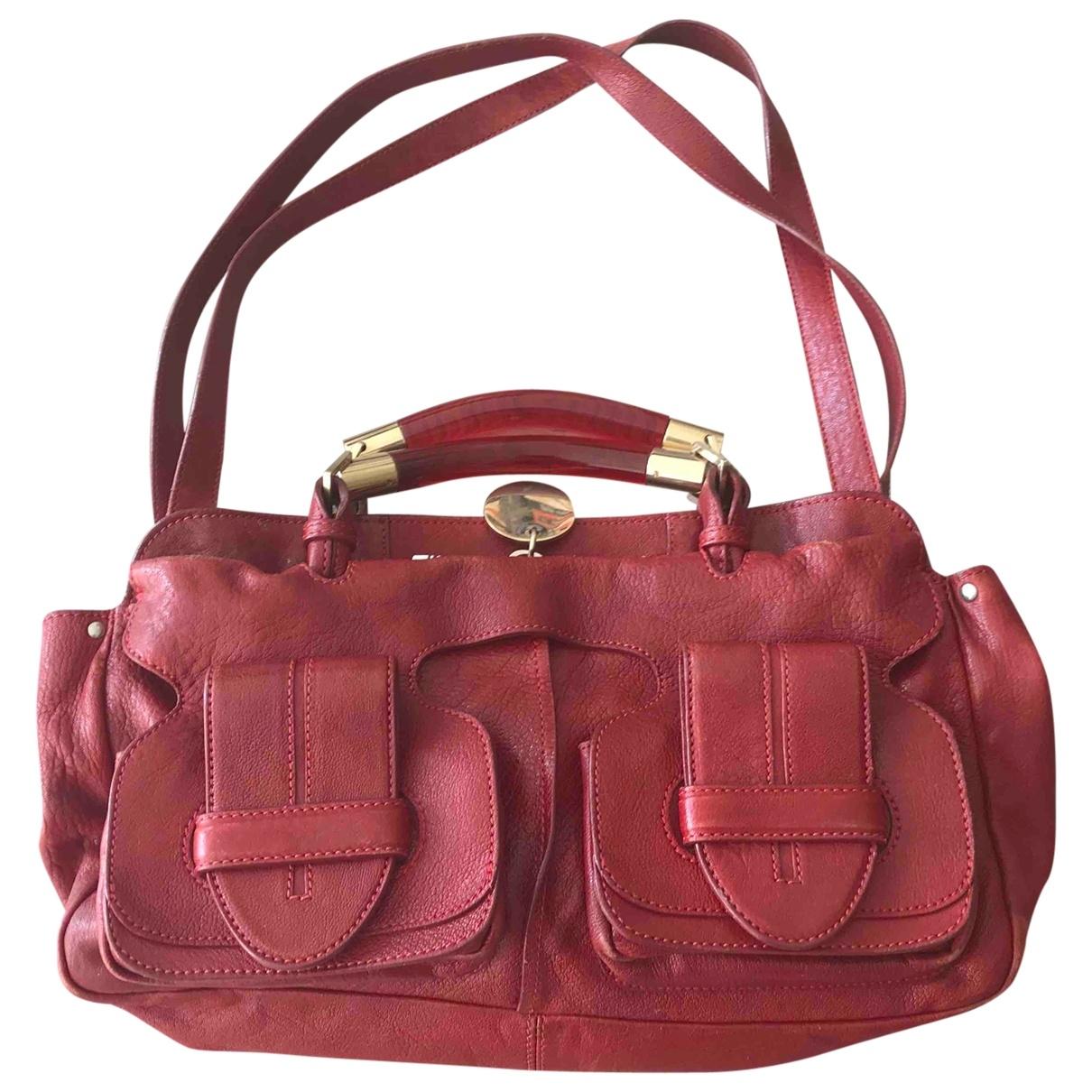Chloe \N Handtasche in  Rot Leder