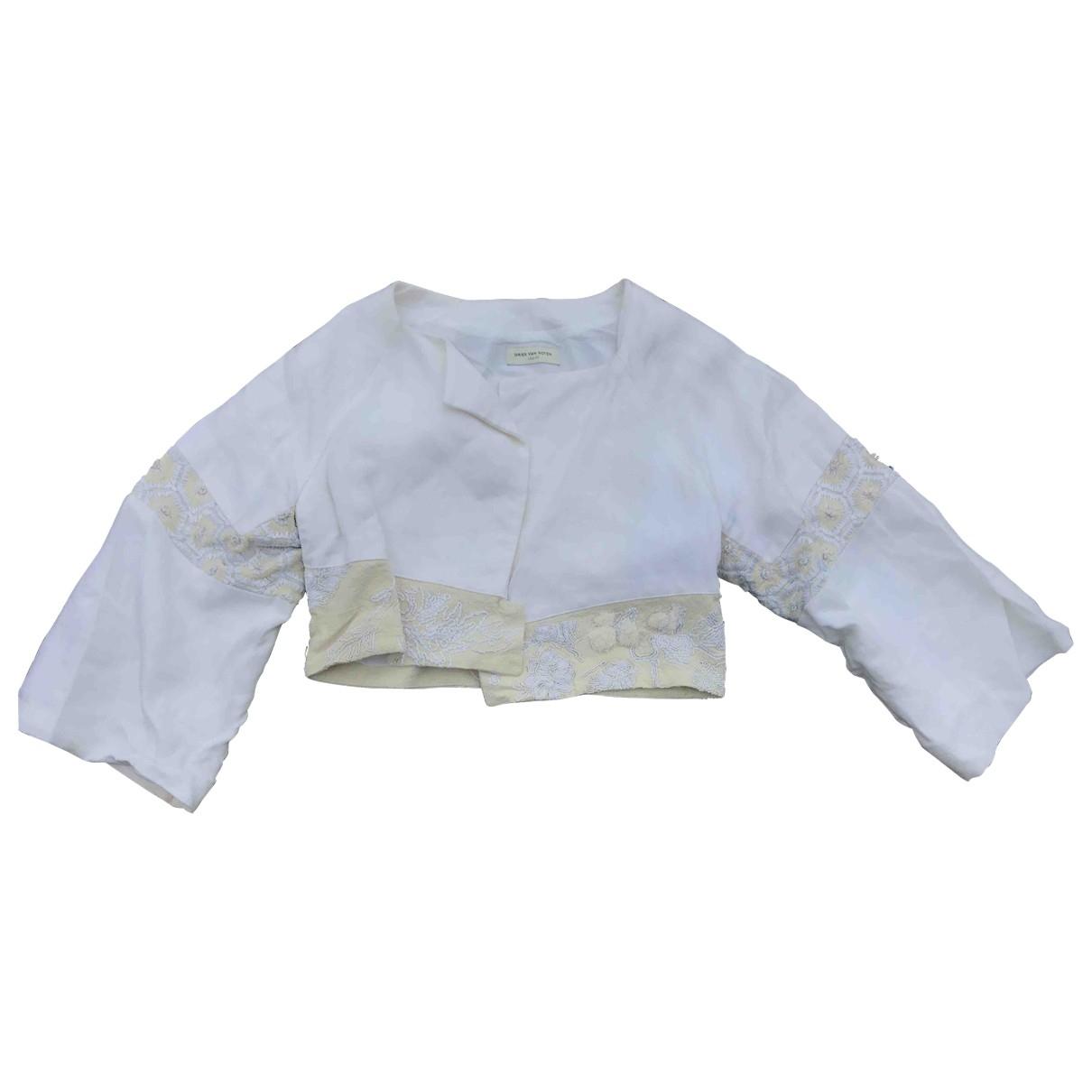 Dries Van Noten \N White Cotton jacket for Women 40 FR