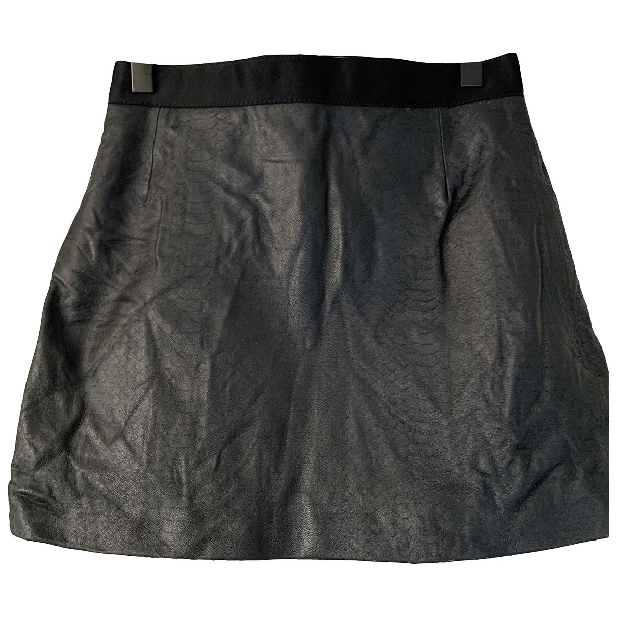 Mini falda de Cuero Giambattista Valli X H&m