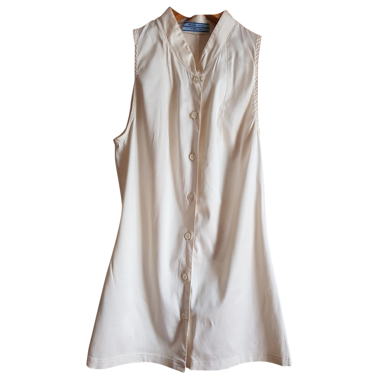 Prada - Top   pour femme en soie - blanc